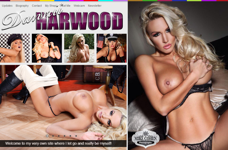 Popular premium porn site with the super sexy Dannii Harwood.