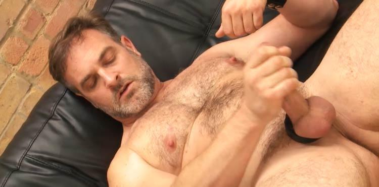 Popular premium xxx site with bear gay males masturbating