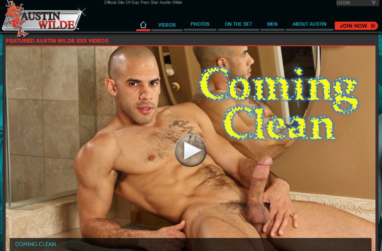 Fine gay adult site for Austin Wilde fans.