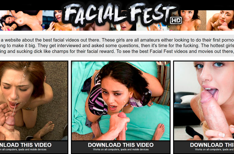 Greatest pay adult website full of huge facial porn content