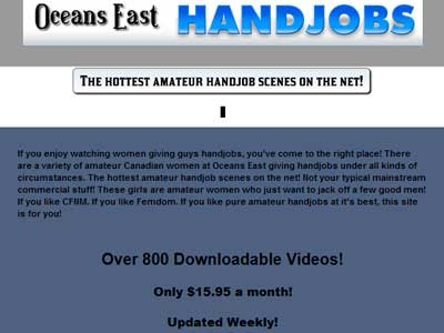 Popular premium xxx site featuring amateur handjob porn films
