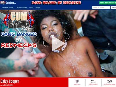 Top premium sex website showing interracial cumshot porn action