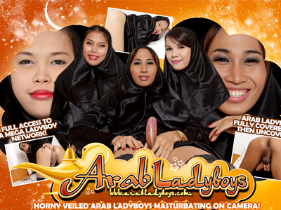 Great paid porn site for sexy Arab ladyboys in wild action.